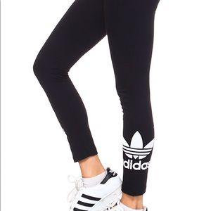 Adidas leggings with ankle logo